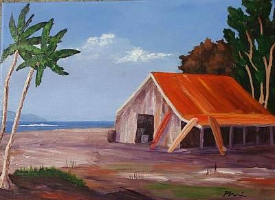 Bob Phillips Surf Art Painting - Surf School by Bob Phillips