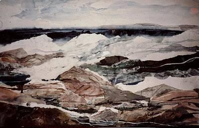 Linda King Painting - Surf Series by Linda King