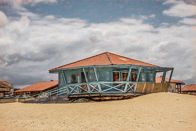 Photograph - Surf Shack In Watercolors by Debra and Dave Vanderlaan