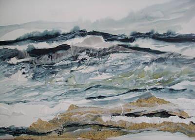 Linda King Painting - Surf Song by Linda King