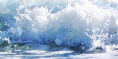 Digital Art - Surf Splashes by Francesa Miller