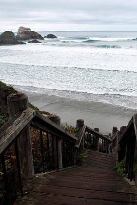 Photograph - Surf Stairway by Lorraine Devon Wilke