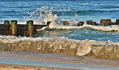 Photograph - Surf Stir - Jersey Shore by Angie Tirado