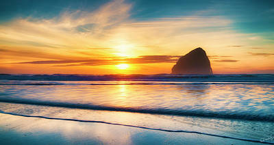 Photograph - Surf Sunset by Dee Browning