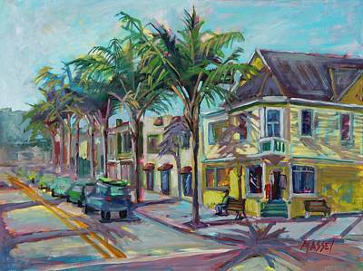 Impressionistic Oil Painting - Surf Town Usa by Marie Massey