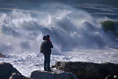 Photograph - Surf Watcher by John Meader