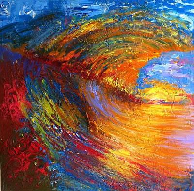 Surf Waves Original by Rahat Kazmi