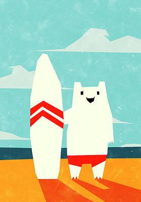 Yeti Digital Art - Surf by Yetiland