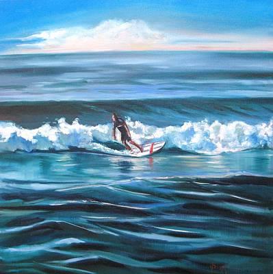 Surf Art Print by Yvonne Dagger
