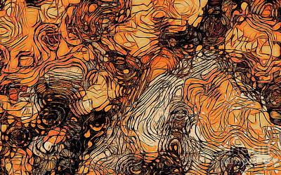 Digital Art - Surface Of An Ohio Creek 2 by Tim Richards
