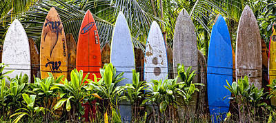 Surfboard Fence Photograph - Surfboard Fence 5 by Rosanne Nitti