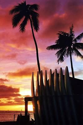 Photograph - Surfboard Sunset by DJ Florek