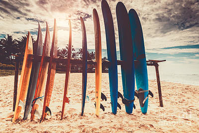 Photograph - Surfboards by Anna Om