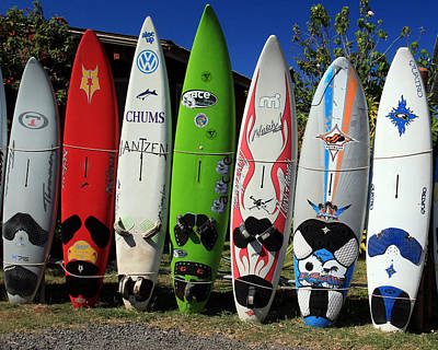 Photograph - Surfboards by John Bushnell