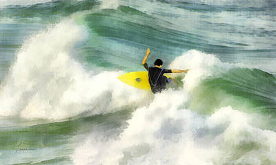 Surfer 76 Art Print by Francesa Miller