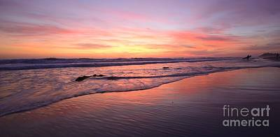 Photograph - Surfer Afterglow by John F Tsumas