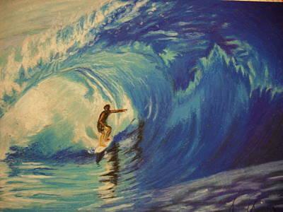 Surfer Print by Agnes V