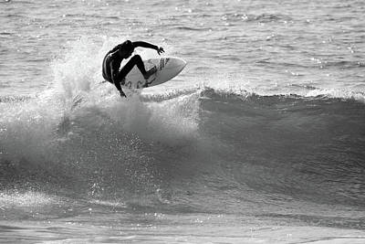 Beach Photograph - Surfer Air Time by Pierre Leclerc Photography