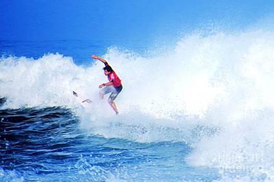 Triple Crown Of Surfing Photograph - Surfer Alex Ribeiro - Nbr 3 by Scott Cameron