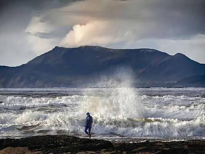 Photograph - Surfer And A Big Wave by John Carver