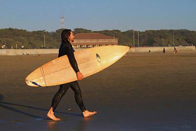 Photograph - Surfer At Ocean Beach by Bonnie Follett