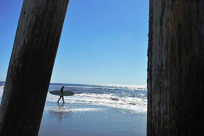 Photograph - Surfer At Pier by Matt Harang
