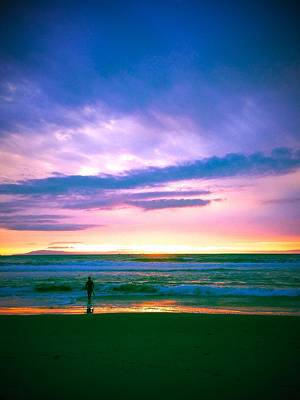 Photograph - Surfer At Sunset by Miki Klocke