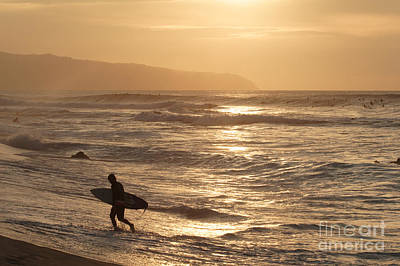 Photograph - Surfer At Sunset by Vince Cavataio - Printscapes