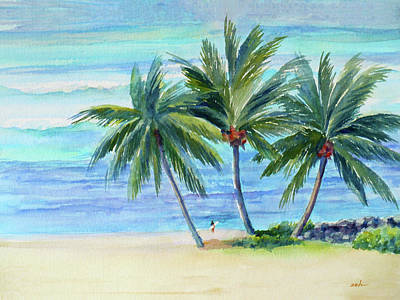 Painting - Surfer At Waikiki by Janet Zeh