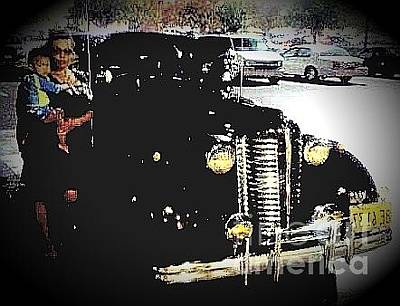 Photograph - Surfer Baby And Classic Cars by Talisa Hartley
