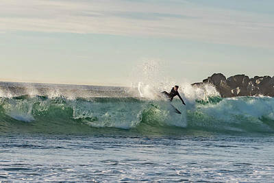 Photograph - Surfer Carlsbad Jetty by Bruce Pritchett