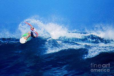 Triple Crown Of Surfing Photograph - Surfer Charles Martin Nbr. 3 by Scott Cameron