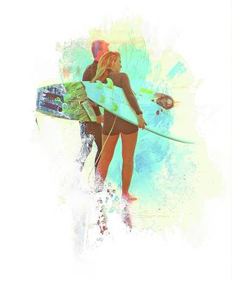 Photograph - Surfer Couple by Alice Gipson