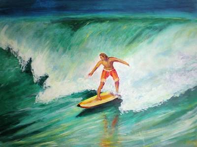 Painting - Surfer Dude by Patricia Piffath