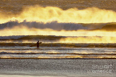 Photograph - Surfer Faces Wind And Waves, Morro Bay, Ca by Sharon Foelz