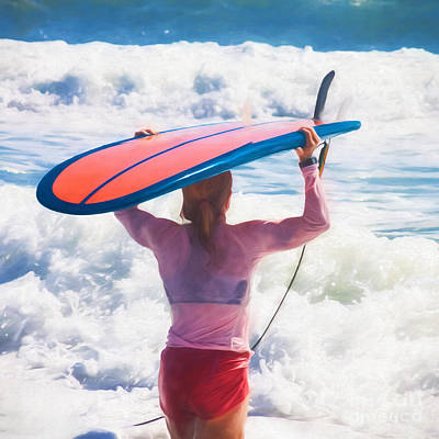 Photograph - Surfer Girl by Diane Macdonald