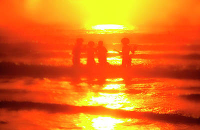 Photograph - Surfer Girls by Jan W Faul