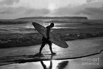 Surfer Heading Home Art Print by Catherine Sherman