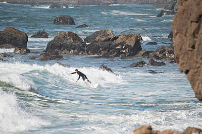 Photograph - Surfer In Bodega Bay 2 by Brent Dolliver