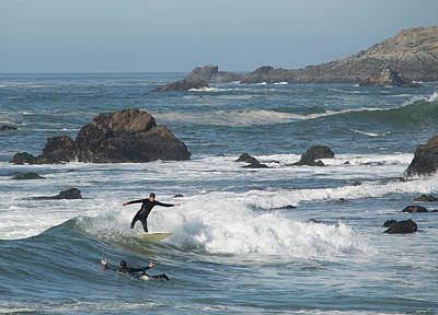 Photograph - Surfer In Bodega Bay 4 by Brent Dolliver