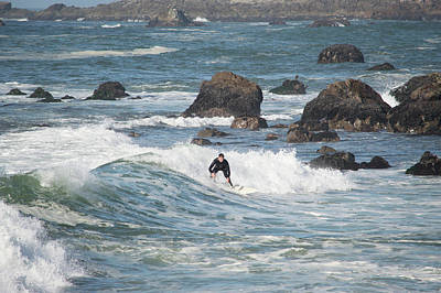 Photograph - Surfer In Bodega Bay by Brent Dolliver