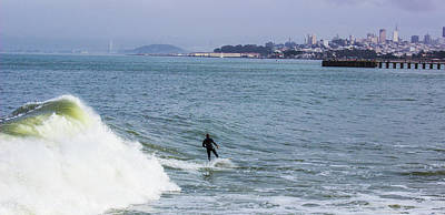 Photograph - Surfer In San Francisco by Alexis Lee Scott