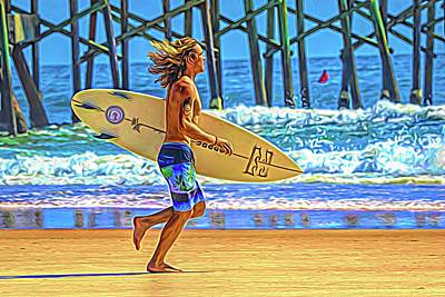 Photograph - Surfer Lope by Alice Gipson