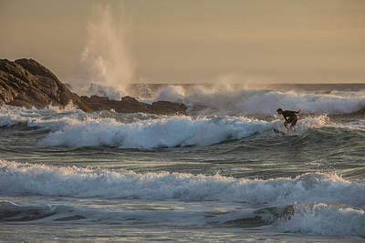 Photograph - Surfer Off The Dana Point Headlands by Cliff Wassmann