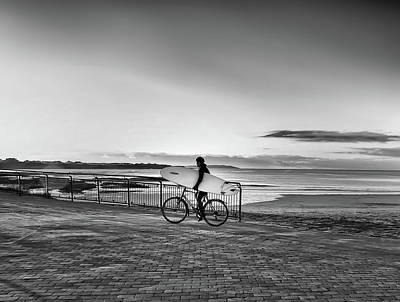 Photograph - Surfer On A Bike by John Carver