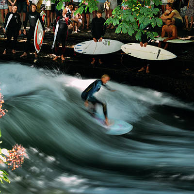 Photograph - Surfer On The Eisbach, Munich, Germany by Alexandre Rotenberg