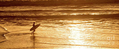 Surf Lifestyle Photograph - Surfer Panorama by Delphimages Photo Creations