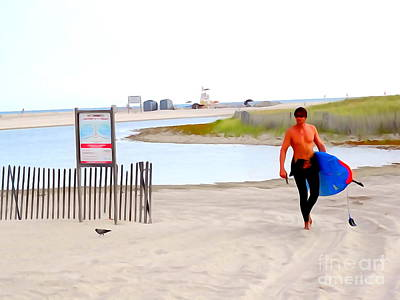 Digital Art - Surfer Sean by Ed Weidman