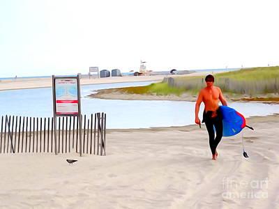 Digital Art - Surfer Sean by Ed Weidman