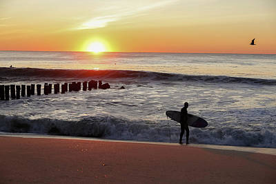 Photograph - Surfer Sunrise by Kathleen McGinley